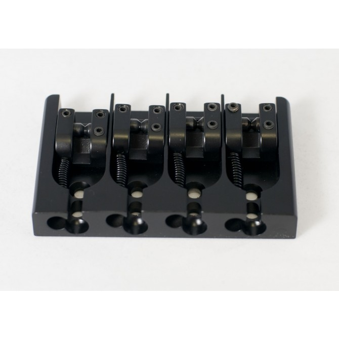 Hipshot AStyle 4String .750 Bass Bridge Aluminum Black 19mm Spacing