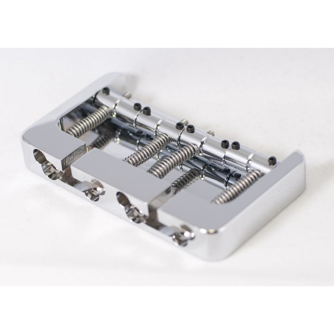 Hipshot BStyle 4String .750 Bass Bridge Aluminum Chrome 19mm Spacing