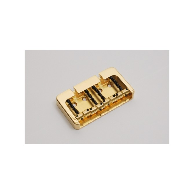 Hipshot BStyle 4String .750 Bass Bridge Brass Gold 19mm Spacing