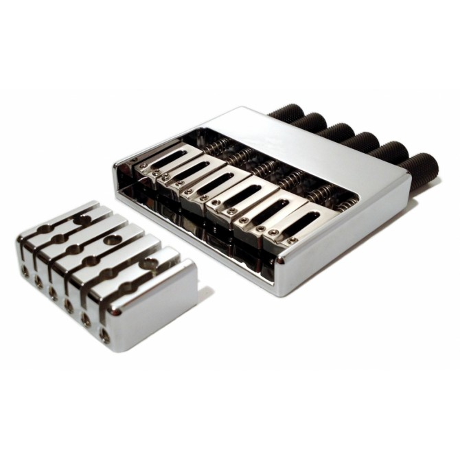 Hipshot Headless System 6String .750 Bass Bridge Chrome 19mm Spacing