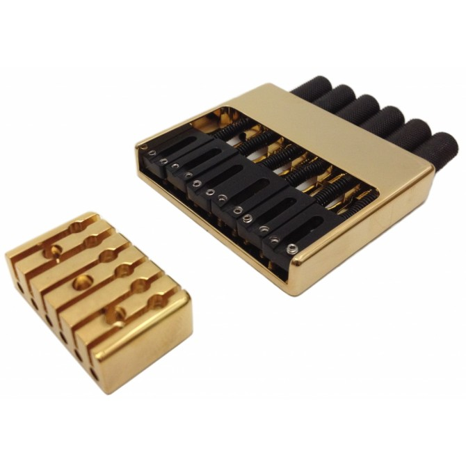Hipshot Headless System 6String .708 Bass Bridge Gold 18mm Spacing