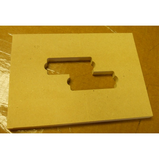 """Mike Plyler 1/2"""" Thick MDF Aguilar 5P Size Template"""