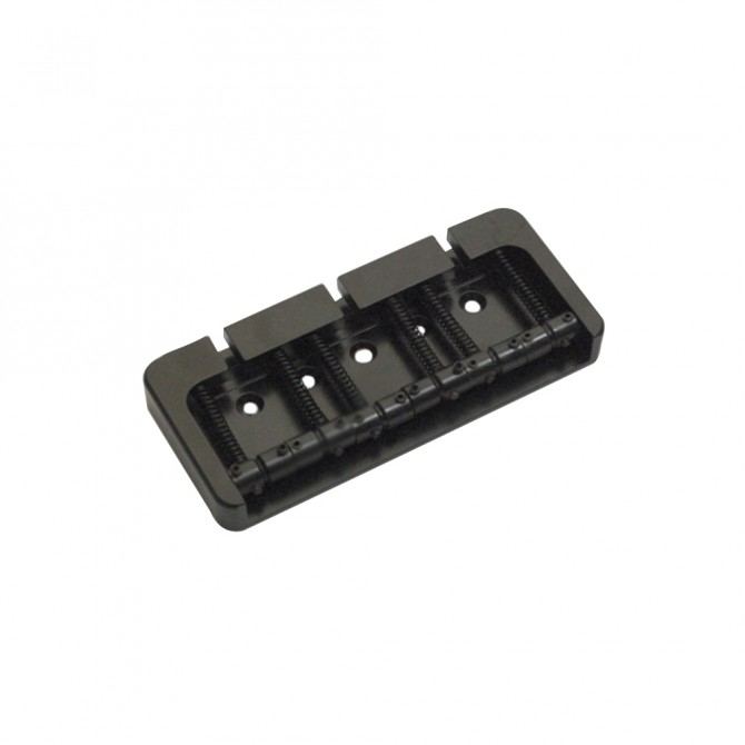 Hipshot BStyle 6String .750 Bass Bridge Aluminum Black 19mm Spacing
