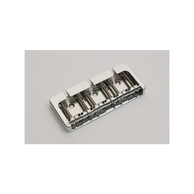 Hipshot BStyle 6String .640 Bass Bridge Brass Chrome 16mm Spacing