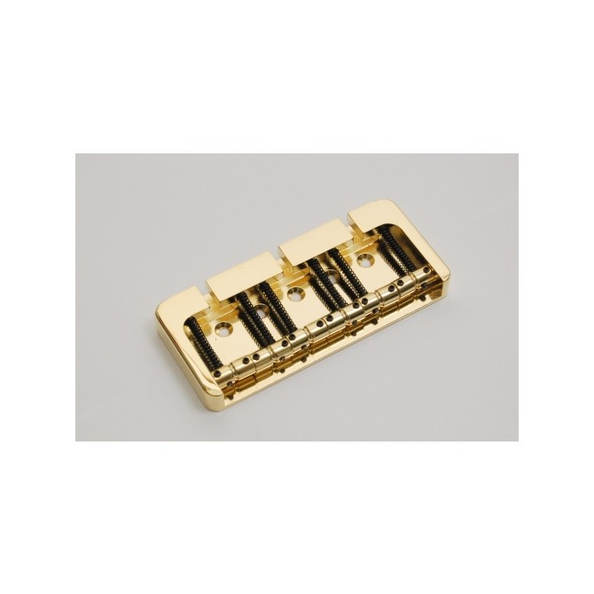 Hipshot BStyle 6String .708 Bass Bridge Brass Gold 18mm Spacing