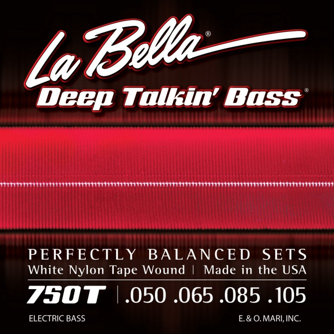 Labella 750T-CB White Nylon Tapewound 6 String Light (43 - 50 - 65 - 85 - 105 - 135) Long Scale