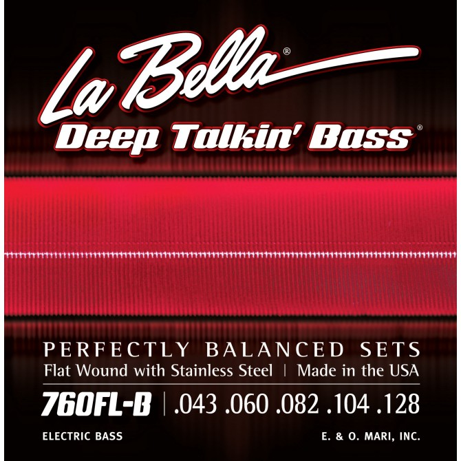 Labella 760FL-B-S Deep Talkin' Bass Flatwound 5 String Light (43 - 60 - 82 - 104 - 128) Short Scale