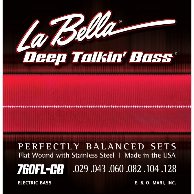 Labella 760FL-CB-XL Deep Talkin' Bass Flatwound 6 String Light (29 - 43 - 60 - 82 - 104 - 128) Extra Long Scale