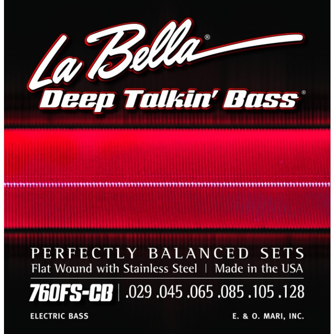 Labella 760FS-CB Deep Talkin' Bass Flatwound 6 String Standard (29 - 45 - 65 - 85 - 105 - 128) Long Scale