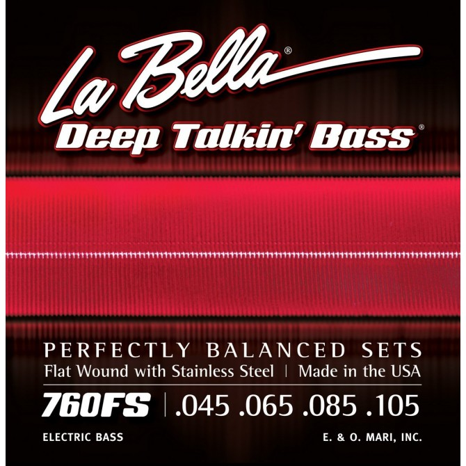 Labella 760FS Deep Talkin' Bass Flatwound 4 String Standard (45 - 65 - 85 - 105) Long Scale