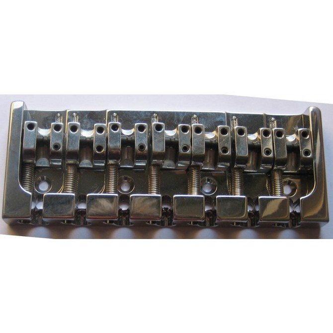 Hipshot AStyle 7String .656 Bass Bridge Aluminum Chrome 16.5mm Spacing