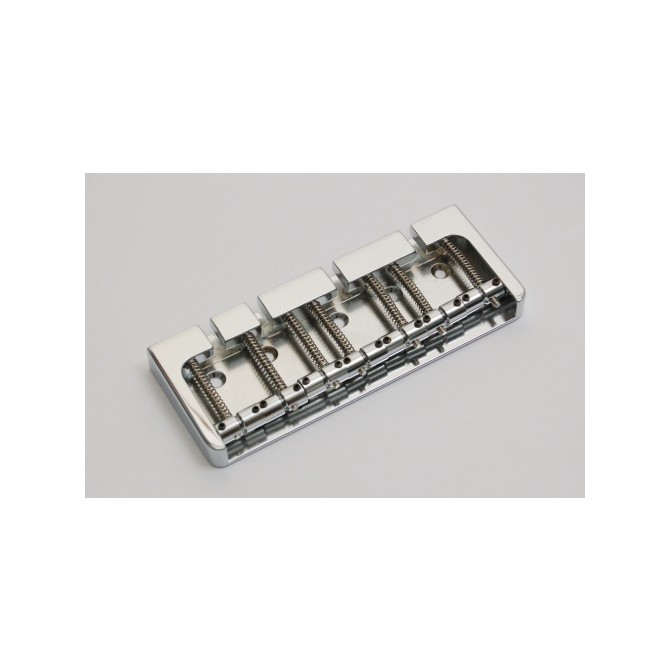 Hipshot BStyle 7String .669 Bass Bridge Brass Chrome 17mm Spacing