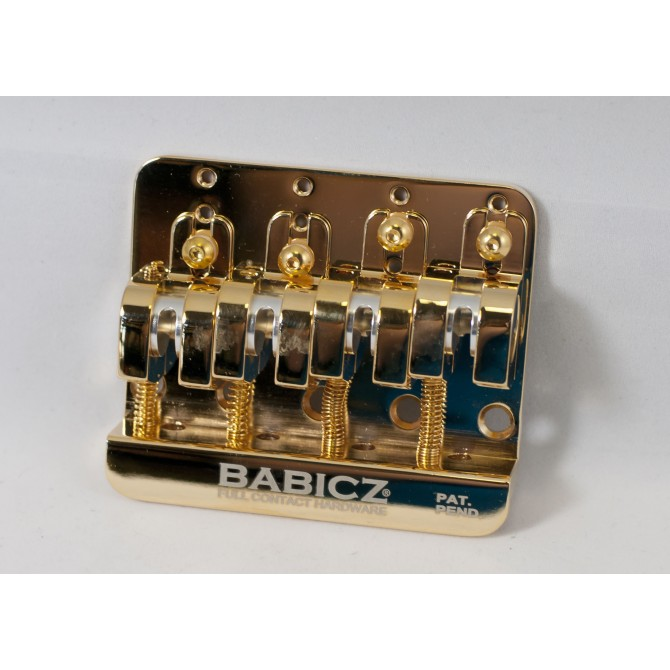 Babicz Full Contact Hardware - FCH-4GLD - 4 string gold bridge