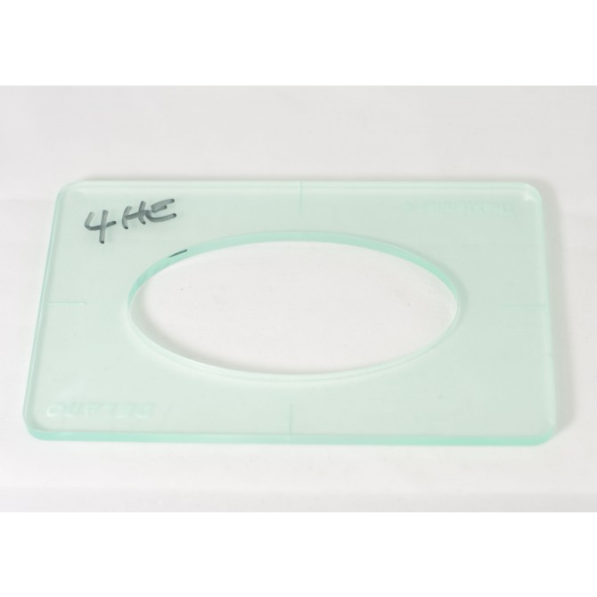 "Delano 1/4"" Thick Acrylic Xtender 4 Size Template"
