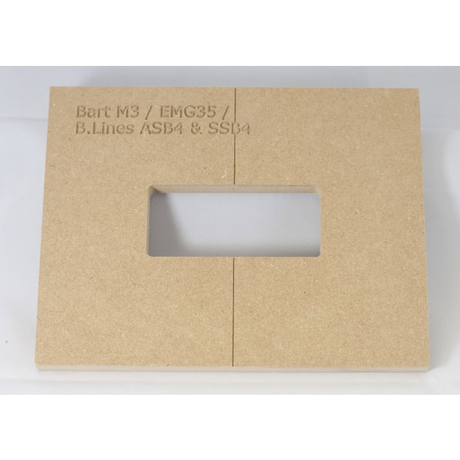 "Mike Plyler 1/2"" Thick MDF M3(EMG 35) Size Template"