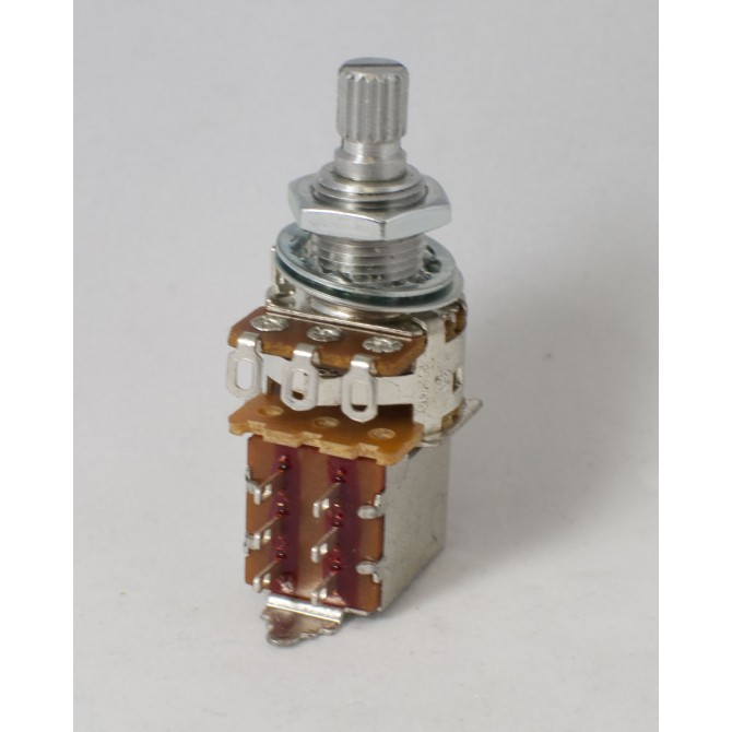 Alpha 25k Volume Potentiometer Audio Taper Push/Pull 6mm Solid Shaft