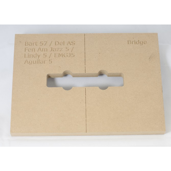 "Mike Plyler 1/2"" Thick MDF Jazz AS L Size Template"
