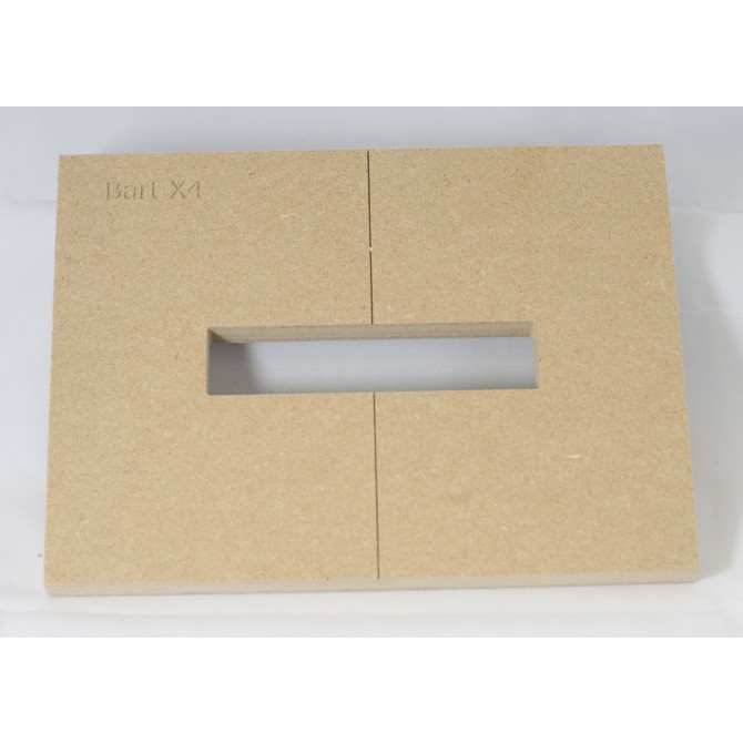 "Mike Plyler 1/2"" Thick MDF X4 Size Template"