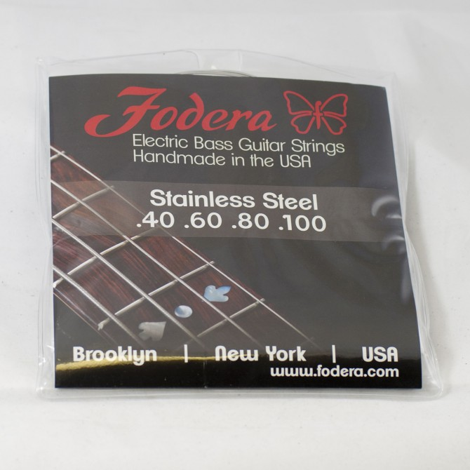 Fodera 40100S Stainless Steel 4 String Light (40 - 60 - 80 - 100) Long Scale