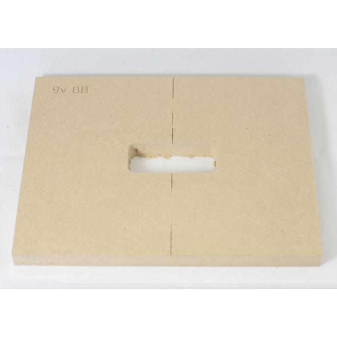 "Mike Plyler 1/2"" Thick MDF 9v Battery Box Template"