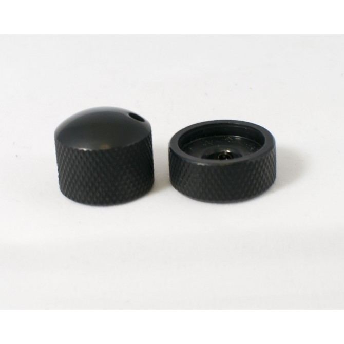 Glockenklang - Euro-Style Stacked Concentric Dome Knob - Black