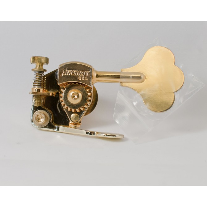 "Hipshot Bass Xtender HE6C 1/2"" Gold Bass Side"