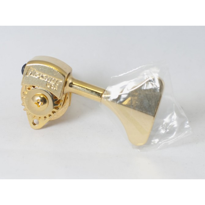 "Hipshot Ultralite Tuner HB6Y 1/2"" Gold Bass Side"