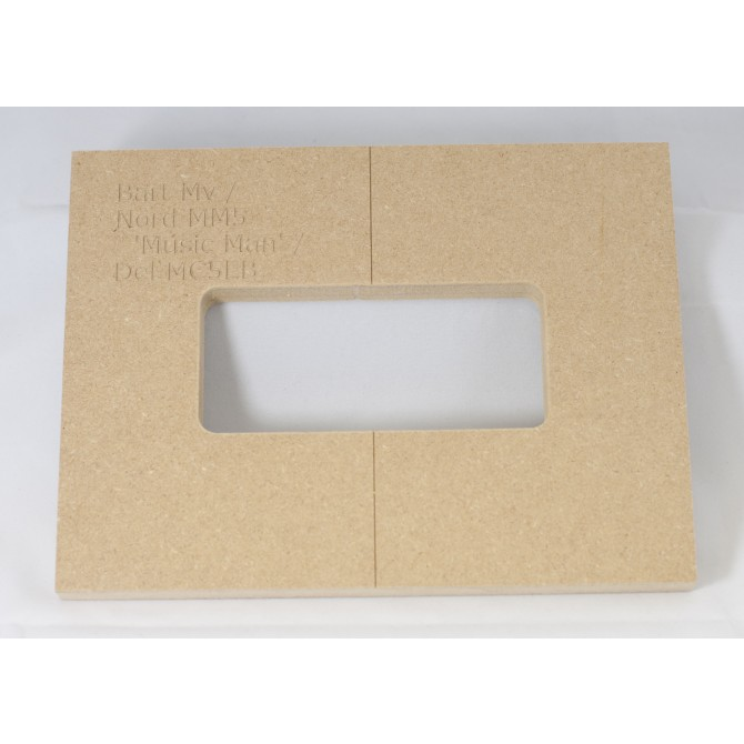 """Mike Plyler 1/2"""" Thick MDF MV(Ernie Ball MM) Size Template"""