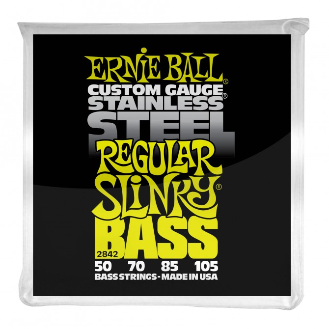 Ernie Ball Regular Slinky Stainless Steel Electric Bass Strings - 50-105 Gauge