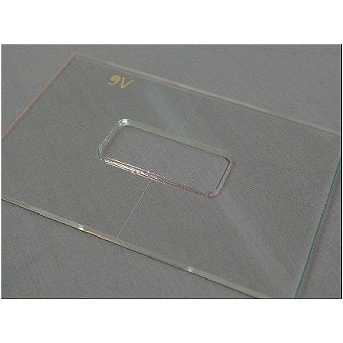 """Nordstrand 3/16"""" Thick Acrylic 9v Battery Box Template"""