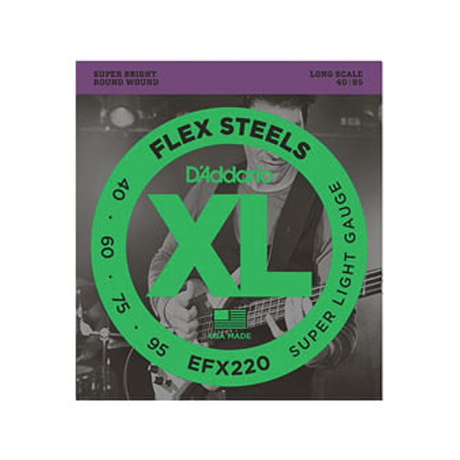 Daddario FlexSteels Series - EFX220 4 String Set (Discontinued by Manufacturer)