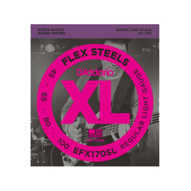 Daddario FlexSteels Series - EFX170SL 4 String Set (Discontinued by Manufacturer)
