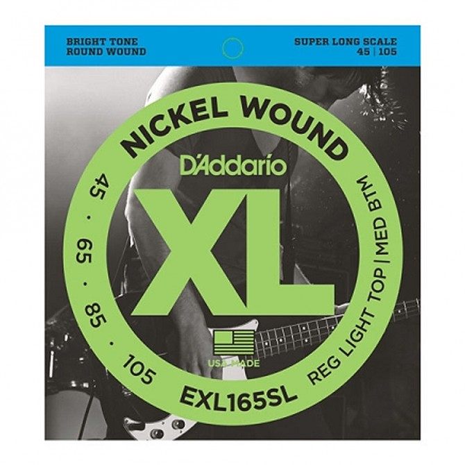 Daddario EXL165SL Nickel Wound 4 String Light (45 - 65 - 80 - 100) Super Long Scale
