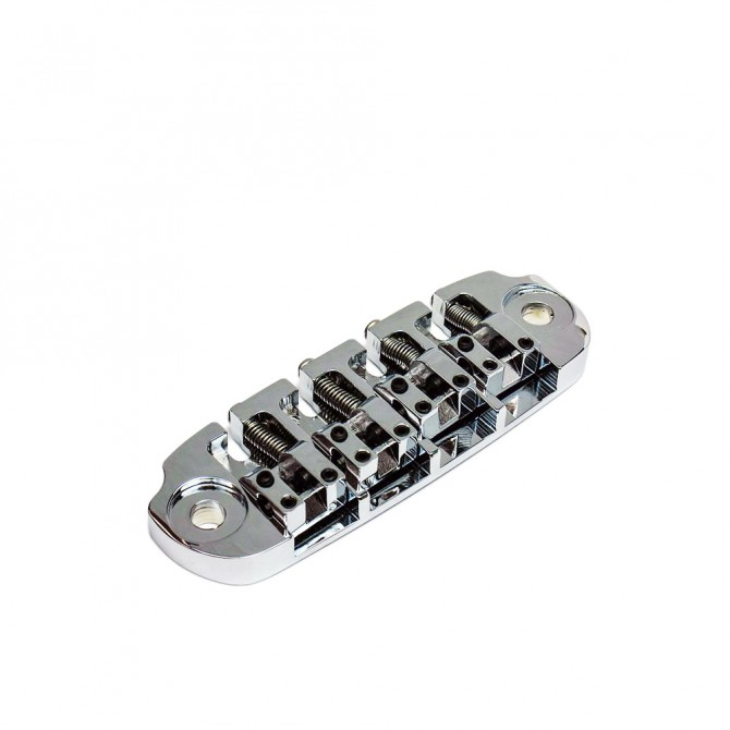 Hipshot DStyle 2Piece 5String .750 Bass Bridge Only Chrome 19mm Spacing