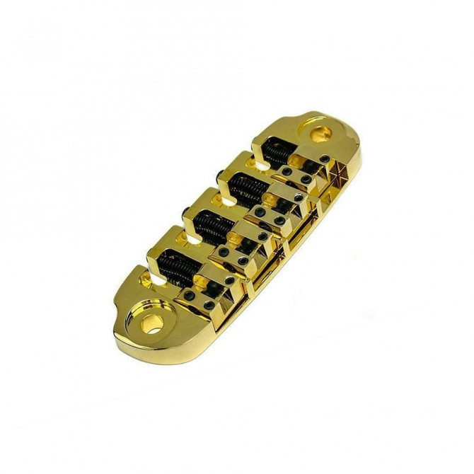 Hipshot DStyle 2Piece 5String Bridge Only .656 Bass Bridge Gold 16.5mm Spacing