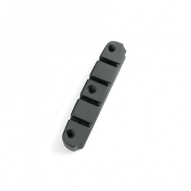 Hipshot DStyle 2Piece 5String Tailpiece Only .708 Bass Bridge Black 18mm Spacing