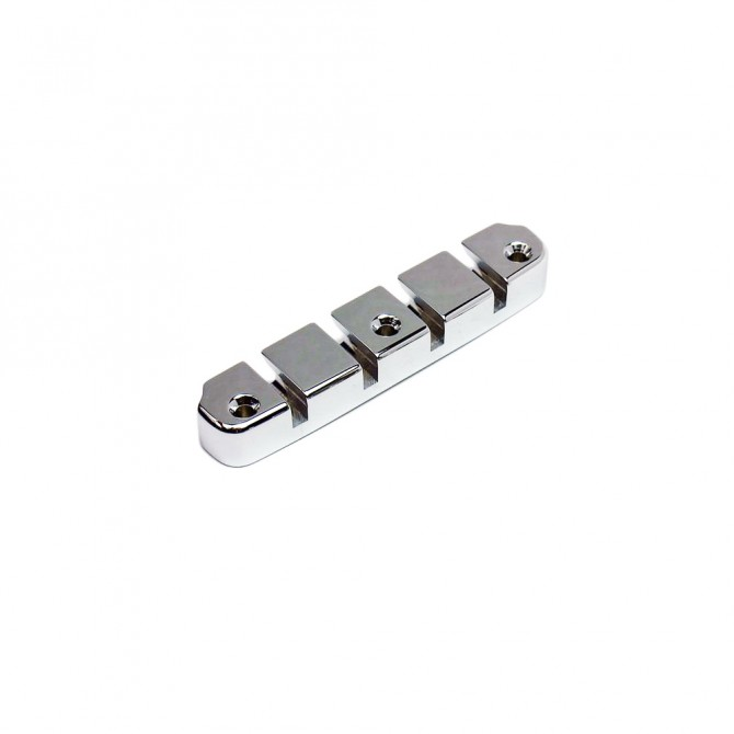 Hipshot DStyle 2Piece 4String Tailpiece Only .708 Bass Bridge Chrome 18mm Spacing