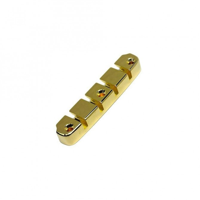Hipshot DStyle 2Piece 5String Tailpiece Only .656 Bass Bridge Gold 16.5mm Spacing