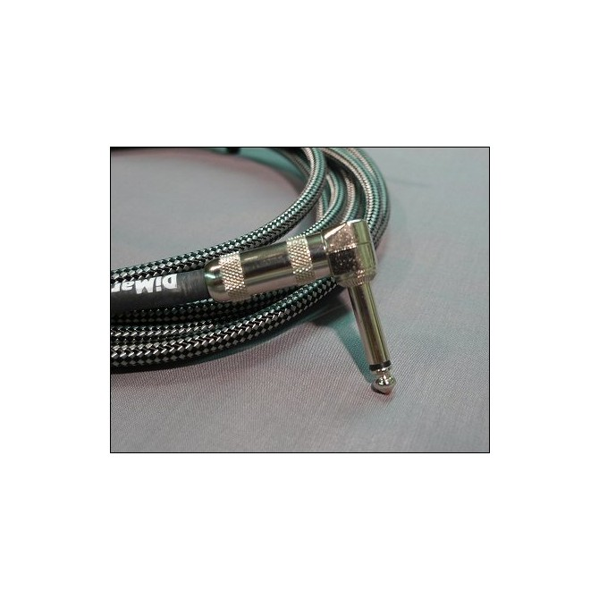 DiMarzio - Cable - Black/Gray 15 Foot RT/ST