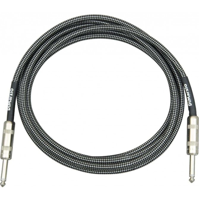 DiMarzio - Cable - Black/Gray 15 Foot ST/ST