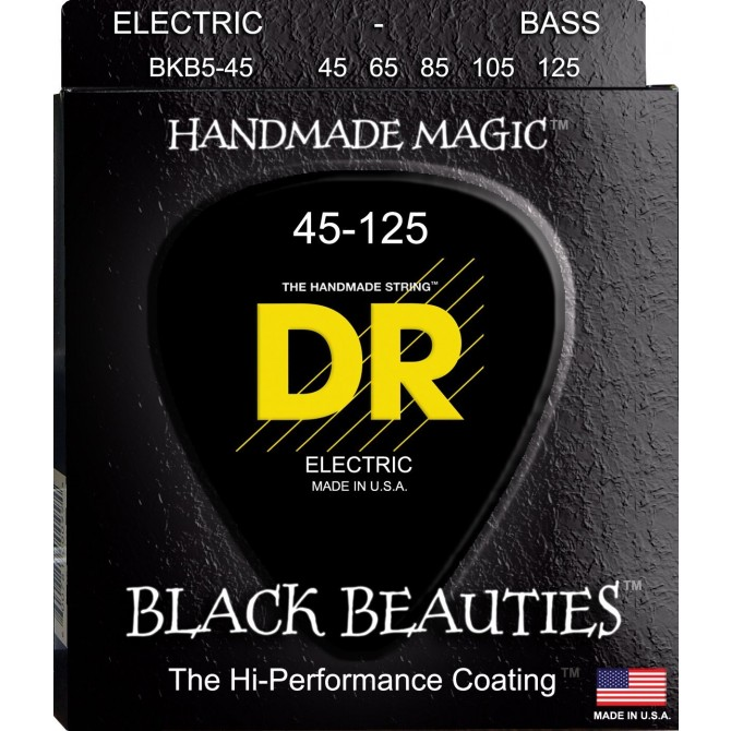 DR BKB5-45 Black Beauties 5 String Medium (45 - 65 - 85 - 105 - 125) Long Scale