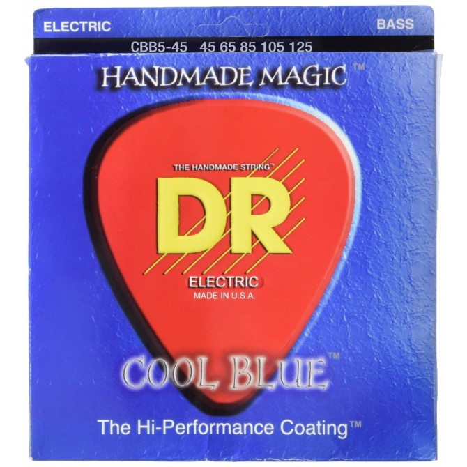 DR CBB5-45 Cool Blue 5 String Medium (45 - 65 - 85 - 105 - 125) Long Scale