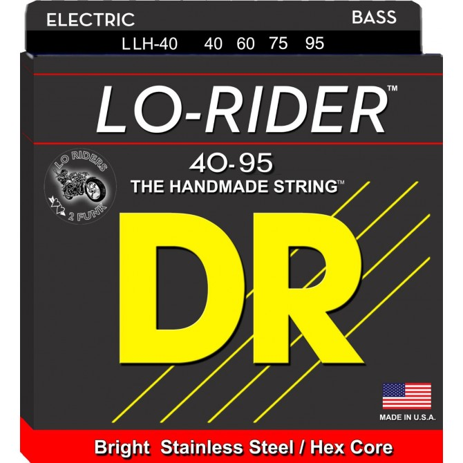 DR LLH-40 Lo Rider 4 String Light-Light (40 - 60 - 75 - 95) Long Scale