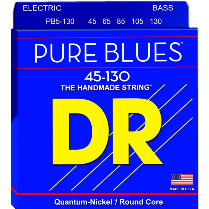 DR PB5-130 Pure Blues 5 String Medium (45 - 65 - 85 - 105 - 130) Long Scale