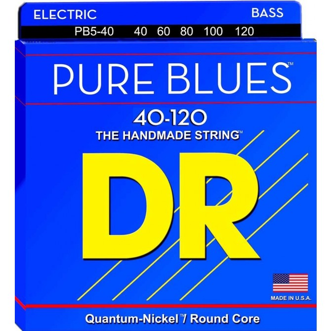 DR PB5-40 Pure Blues 5 String Light (40 - 60 - 80 - 100 - 120) Long Scale