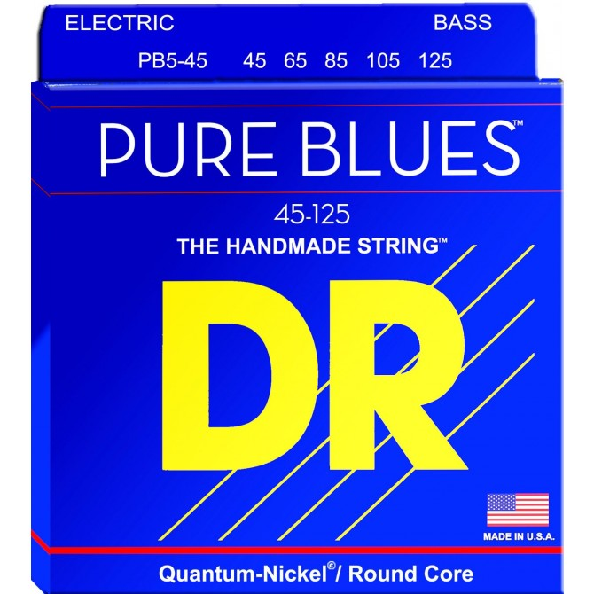 DR PB5-45 Pure Blues 5 String Medium (45 - 65 - 85 - 105 - 125) Long Scale