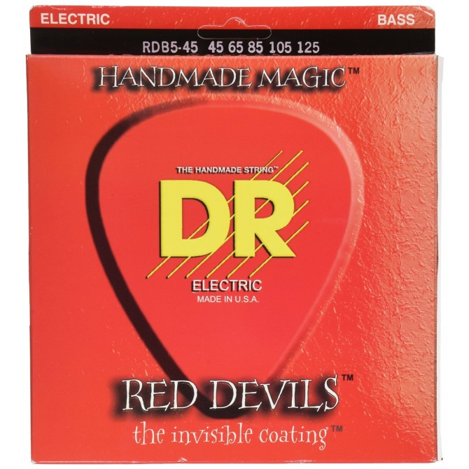 DR RDB5-45 Red Devils 5 String Medium (45 - 65 - 85 - 105 - 125) Long Scale
