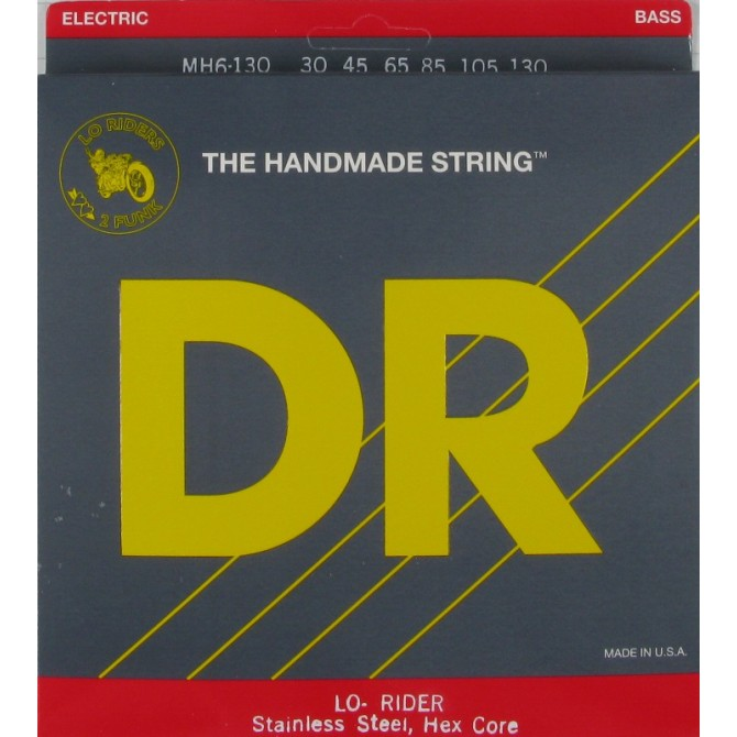 DR MH6-130 Lo Rider 6 String Medium (30 - 45 - 65 - 85 - 105 - 130) Long Scale