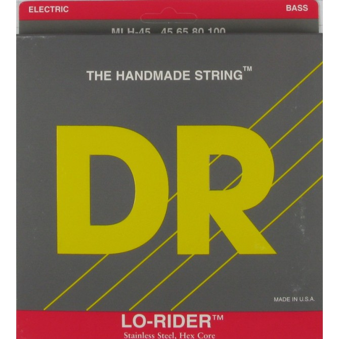 DR MLH-45 Lo Rider 4 String Medium Light (45 - 65 - 80 - 100) Long Scale