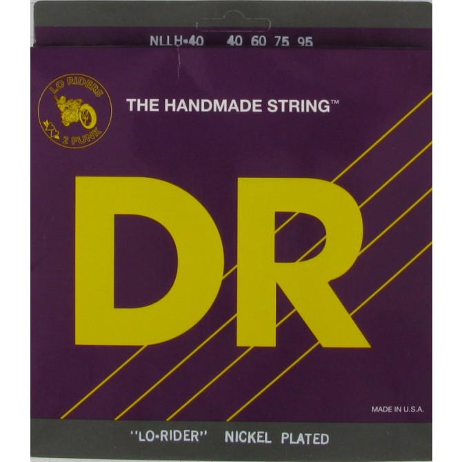 DR NLLH-40 Nickel Lo Rider 4 String Light-Light (40 - 60 - 75 - 95) Long Scale